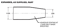 313E 445-457 Shim boot Heatshrink Shapes